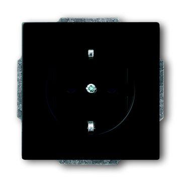 Busch-Jaeger Future Linear wandcontactdoos met randaarde, matzwart