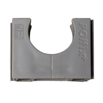 Pipelife drukzadel Polfix+ Polvalit, kunststof, donkergrijs, diam 19mm