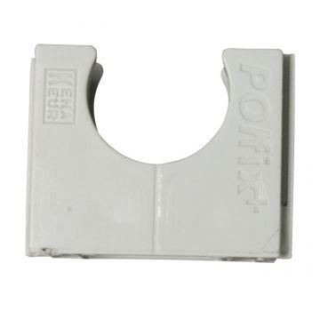Pipelife drukzadel Polfix+ Halovolt, kunststof, licht grijs, diam 16mm