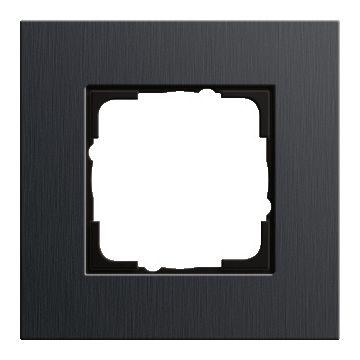 Gira Esprit enkelvoudig kunststof afdekraam, aluminium/zwart