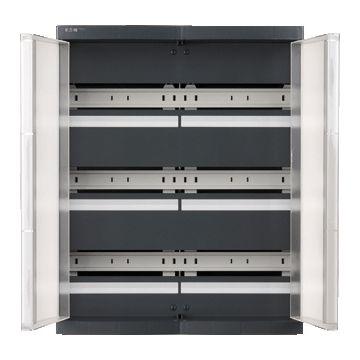Eaton installatiekast leeg Medusa meter, grijs, (hxbxd) 550x440x155mm, DIN-rail