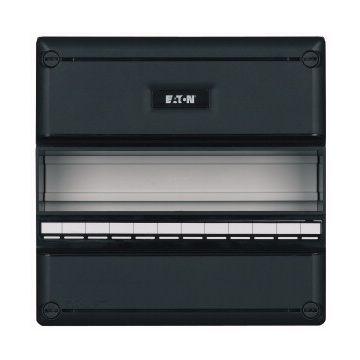 Eaton installatiekast leeg 55, zwart, (hxbxd) 220x220x79mm, DIN-rail