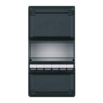 Eaton installatiekast leeg 55, zwart, (hxbxd) 220x110x79mm, DIN-rail