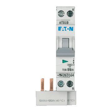 Eaton installatieautomaat 1 55, meeschakelende nul, 2 polen (totaal), kar B