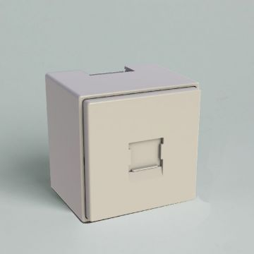 Attema outlet-component DP25 kunststof, creme/wit/elektrowit