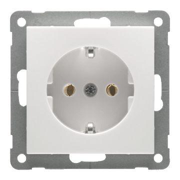 PEHA BADORA outlet-component kunststof, zuiver, wit, centraalplaat