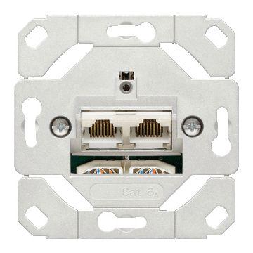 Gira netwerkaansluitdoos 2xRJ45-8P4C, cat6A