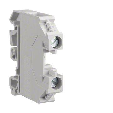 Hager kunststof rijgklem 24A 800V 2.5mm lxb=44.5x5mm, grijs