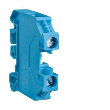 Hager kunststof rijgklem 41A 1000V 6mm lxb=48x8mm, blauw