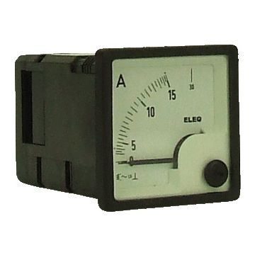Eleq ampèremeter paneelbouw inbouw EIV48-E, 48x48mm, uitlezing analoog
