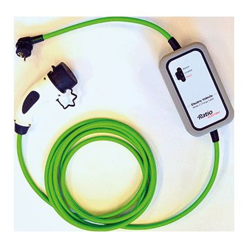 Ratio oplaadpunt 1-fase, Type 2, 10kW, 4m kabel