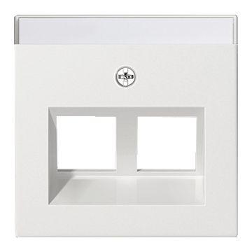 Gira System 55 bedieningselement/centraalplaat kunststof, zuiver, wit