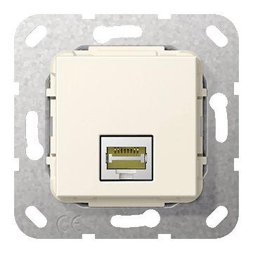 Gira thermoplast basiselement t.b.v. aansluiting RJ45 C6A, LSA Plus aansluiting, crèmewit (RAL1013)