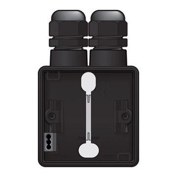 Niko New Hydro enkelvoudige opbouwdoos met 2x wartelingang M20, zwart
