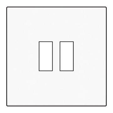 Niko Original afwerkingsset voor dubbele USB-A-lader, wit