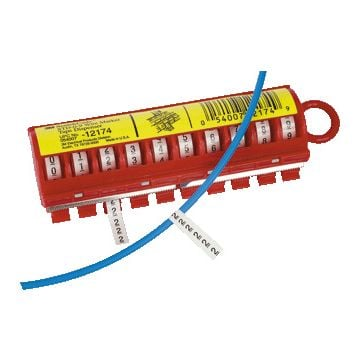 3M adercod disp S, 10 rollen tape, uitvoering inclusief tape genummerd 0 -