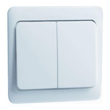 PEHA Standard bedieningselement/centraalplaat kunststof, wit, uitvoering 1 wip