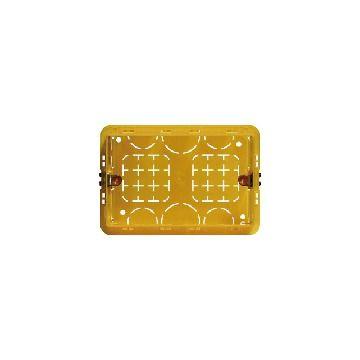 Legrand BTicino doos voor montage in wand/plafond Magic, kunststof, geel, diam 108mm
