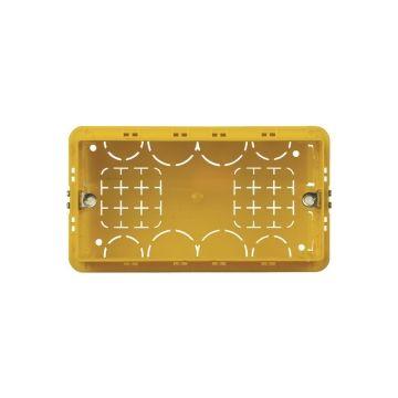 Legrand BTicino doos voor montage in wand/plafond Magic, kunststof, geel, diam 133mm