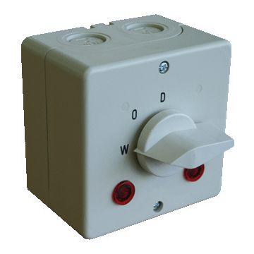 ASN Sontheimer wasmachine-/drogerschakelaar opb, 2 polen, ind signaallamp (2x)