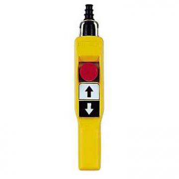 Schneider Electric Harmony XAC-A hangdrukknopkast, (bxdxh) 52x101x295mm, geel