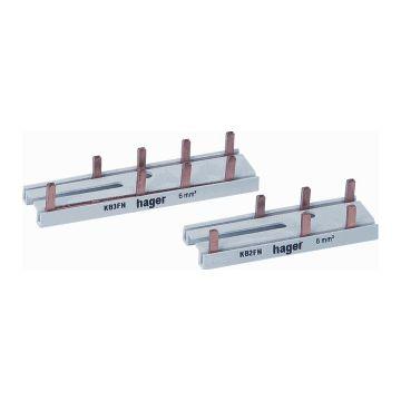 Hager aansluitingrail VISION KB, koper, (bxl) 70x14mm, 6 aansluiting