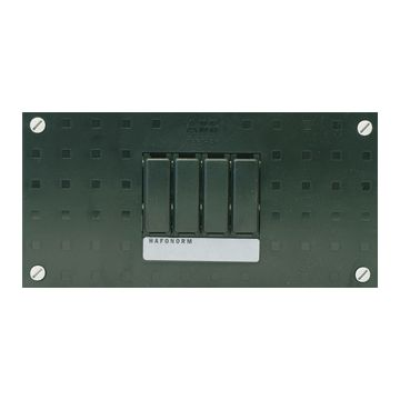 ABB installatiekast leeg Hafonorm HLD, zwart, (hxbxd) 110x220x75mm, DIN-rail