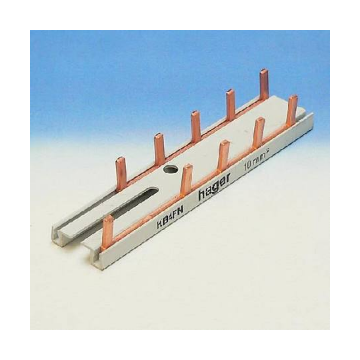 Hager aansluitingrail VISION KB, koper, (bxl) 105x14mm, 10 aansluiting