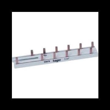 Hager aansluitingrail VISION KB, koper, (bxl) 122.5x14mm, 12 aansluiting