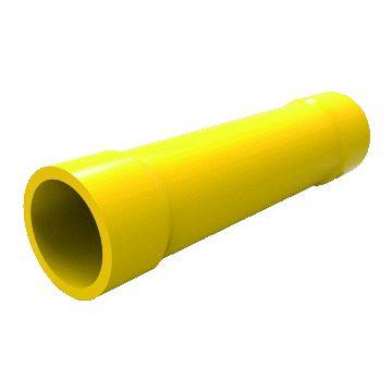 AMP Netconnect aderdoorverbinder rond/vlak huls geel, koper/messing
