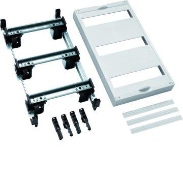 Hager inbouwunit leeg univ DIN-rails, 450x250x125mm, 3 DIN-rails