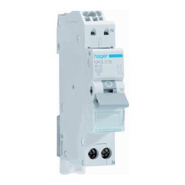 Hager installatieautomaat 1 QuickConnect B-Karakteristiek 1P en N