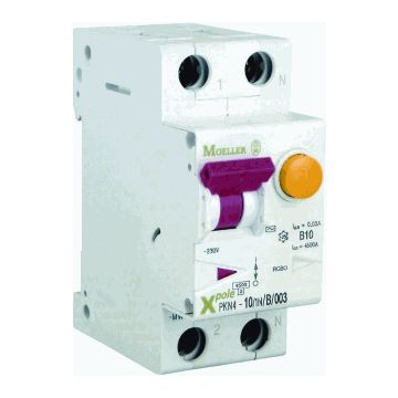 Eaton aardlekautomaat 1 PK N6, kar B, nom. (meet) 230V, nom. (meet)str 16A