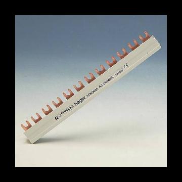 Hager kamrail Quickbusbar, 3mmA², le 210mm, 3 fasen, voor atl apparaten 3