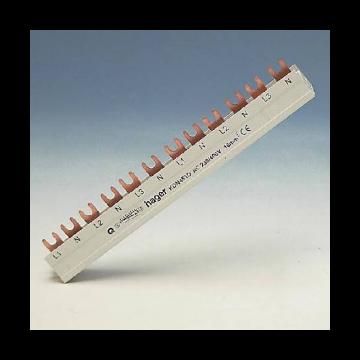 Hager kamrail Quickbusbar, 3mmA², le 210mm, 3 fasen, voor atl apparaten 6