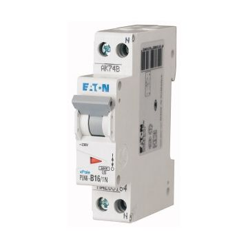 Eaton installatieautomaat 1 PLN 6, meeschakelende nul, 2 polen, 2 polen (totaal)