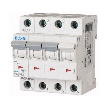 Eaton installatieautomaat 3 PLS 6, 4 polen, 4 polen (totaal), kar B