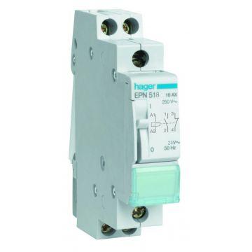 Hager bistabiel rel EPN, 86x18mm, DRA (DIN-rail ad), 1 maak, 1 verbreek
