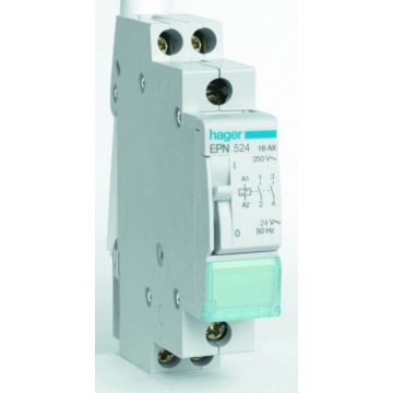 Hager bistabiel rel EPN, 86x18mm, DRA (DIN-rail ad), 2 maak