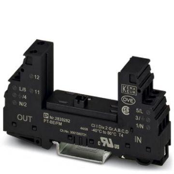 Phoenix Contact basis element voor overspann.-afleider PT Plugtrab, energietechniek