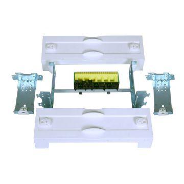 Hager inbouwunit leeg univ N, 75x250x102mm, afd pl gesl, met afd