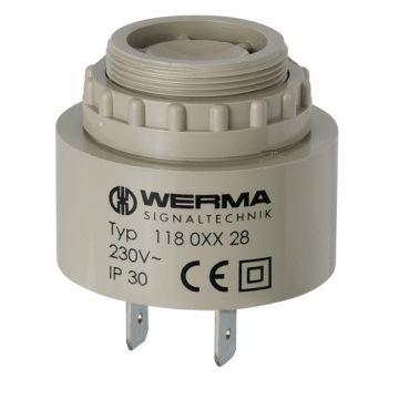 Werma zoemer, nom. 230V, str AC, stroomverbruik 0.02A, (IP) IP30