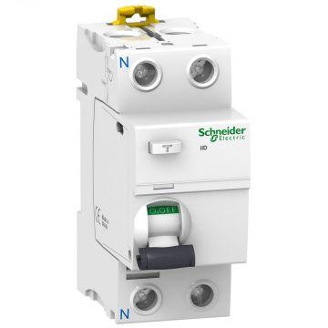 Schneider Electric aardlek schakelaar 1P+N, 2 polen, 63A, 230V