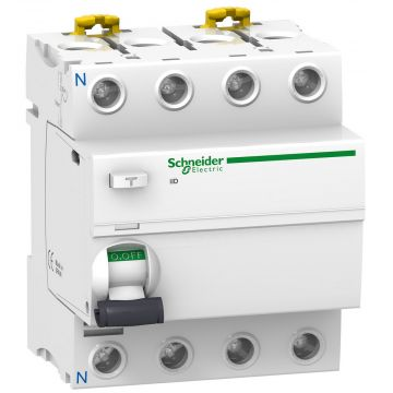 Schneider Electric aardlek schakelaar 3P+N, 4 polen, 63A, 400V