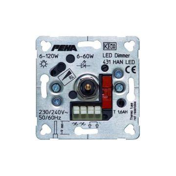 PEHA inbouw basiselement dimmer LED lampen 6 - 60 Watt