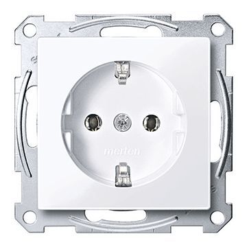 Schneider Electric Merten Systeem M wandcontactdoos randaarde, enkelvoudig kunststof RAL9016, wit