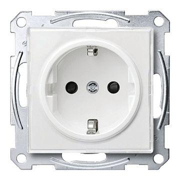 Schneider Electric Merten M-Creativ wandcontactdoos, randaarde, enkelvoudig kunststof, wit