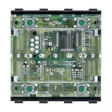 Schneider Electric Merten KNX drukknopmodule, 2-voudig, 4bed.punten/4drukcontacten, RAL9010, wit