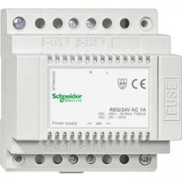 Schneider Electric Merten KNX transformator, 87.5x93x66.5mm, 24-voudig AC, 1A