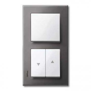 Schneider Electric Merten M-Plan jalouzieschakelaar symbool 'pijlen' kunststof RAL9010, wit